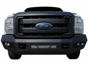Black Horse Off Road - B | Armour Front Bumper Kit | Black | With LED Lights (1x 20in light bar, 2x pair LED cube) | AFB-F217-KIT