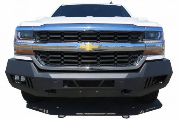 Black Horse Off Road - Black Horse Black Steel Armour Front Bumper AFB-NITI