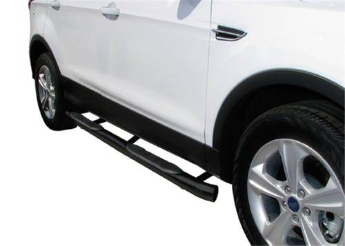 "Steelcraft - Steelcraft 07-18 CHEVY SILVERADO/ GMC SIERRA  2500/3500 CREW CAB 3"" SIDEBARS BLK (Rocker Panel Mount)  (Including Diesel models with DEF tanks)"