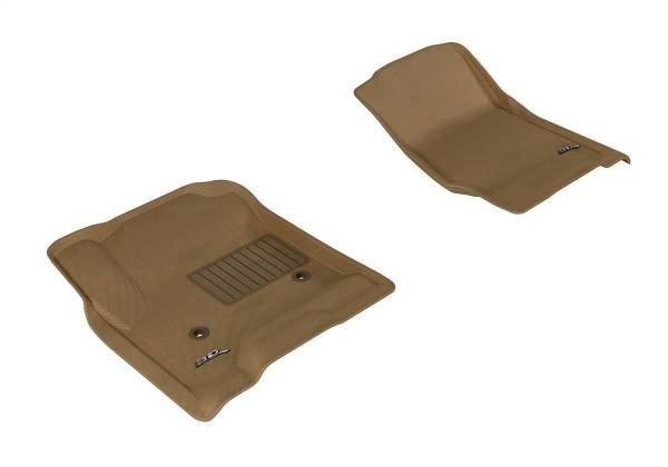 3D MAXpider - U Ace 3D MAXpider CHEVROLET SILVERADO 1500/ 2500HD/ 3500HD DOUBLE CAB/ CREW CAB/ TAHOE/ SUBURBAN/ GMC SIERRA 1500/ 2500HD/ 3500HD DOUBLE CAB/ CREW CAB/ YUKON/ YUKON XL 2015-2018 KAGU TAN R1 L1CH03911502