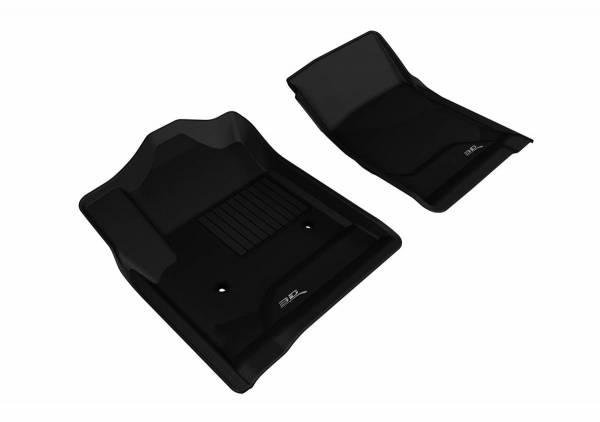 3D MAXpider - U Ace 3D MAXpider CHEVROLET SILVERADO 1500/ 2500HD/ 3500HD REGULAR CAB/ GMC SIERRA 1500/ 2500HD/ 3500HD REGULAR CAB 2014-2018 KAGU BLACK R1 (2 PCS) L1CH05611509