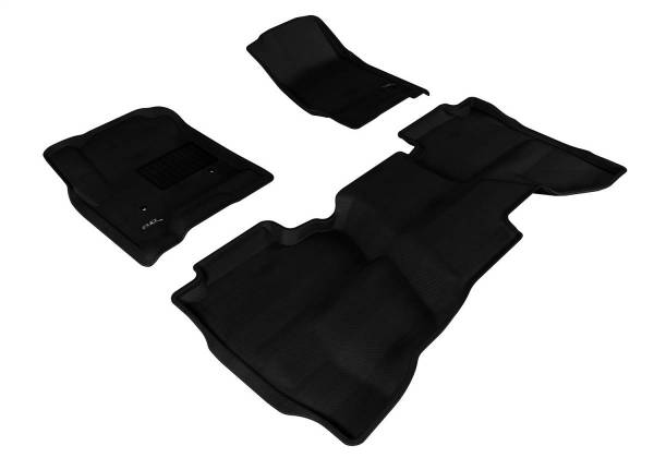 3D MAXpider - U Ace 3D MAXpider GMC SIERRA 1500/ 2500HD/ 3500HD DOUBLE CAB 2015-2018 KAGU BLACK R1 R2 L1GM01101509