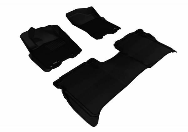 3D MAXpider - U Ace 3D MAXpider NISSAN TITAN 2009-2015 CREW CAB KAGU BLACK R1 R2 (WITH STORAGE BOX) L1NS06701509