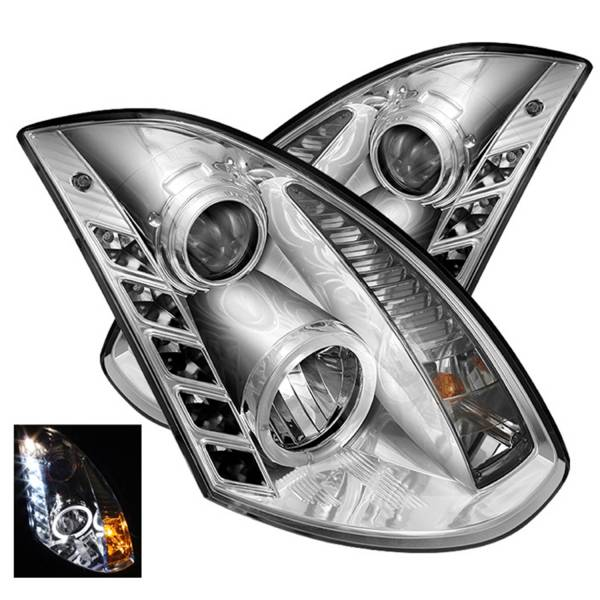 Spyder Auto - Halo DRL LED Projector Headlight 5011077