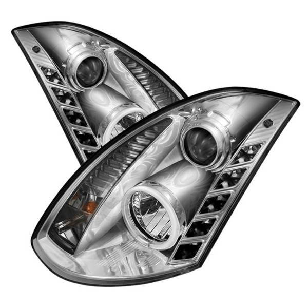 Spyder Auto - CCFL Halo DRL LED Projector Headlights 5029881