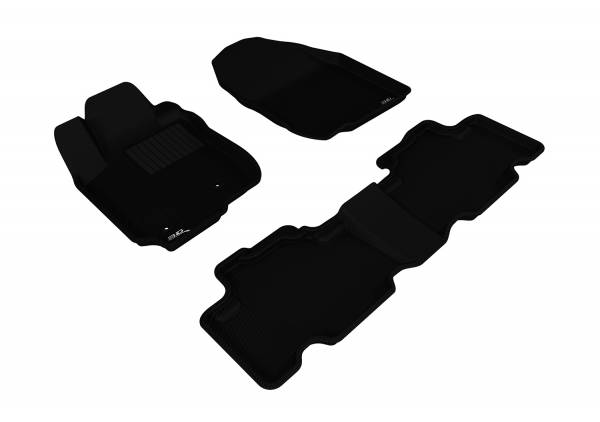 3D MAXpider - 3D MAXpider TOYOTA RAV4 2006-2012 KAGU BLACK R1 R2