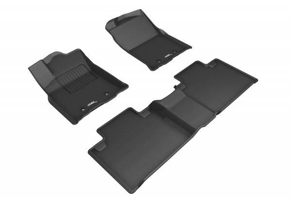 3D MAXpider - 3D MAXpider TOYOTA TACOMA ACCESS CAB 2018-2020 KAGU BLACK R1 R2 (R2 W/O SEAT)