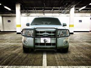 Bull Bar/Brush Guard/Grille Guard - Grille Guard - Black Horse Off Road - Black Horse Black Modular Steel Grille Guard 17FB23MA