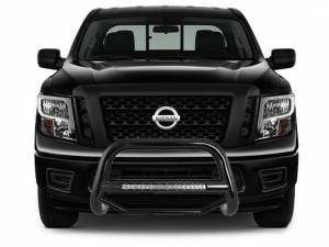 Black Horse Off Road - Black Horse Black Skid Plate Steel Bull Bar BB11327A-SP - Image 1