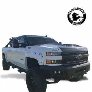 Black Horse Off Road - Black Horse Black Steel Armour Front Bumper AFB-SI25-15 - Image 5