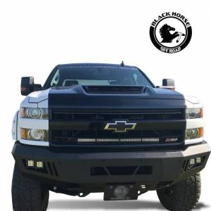 Black Horse Off Road - Black Horse Black Steel Armour Front Bumper AFB-SI25-15 - Image 6