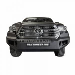 Exterior Accessories - Bumper - Black Horse Off Road - Black Horse Black Steel Armour Front Bumper AFB-TU14