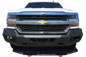 Black Horse Off Road - Black Horse Black Steel Armour Front Bumper Kit AFB-SI16-KIT