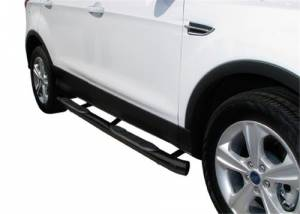 """Steelcraft 05-20 TOYOTA TACOMA DOUBLE CAB 6"""" OVAL SIDEBARS BLK"""