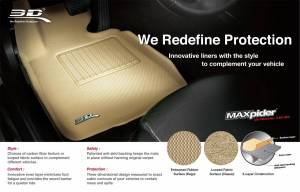 3D MAXpider - U Ace 3D MAXpider ACURA MDX 2014-2019 CLASSIC TAN R2 L1AC00622202 - Image 2