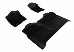 3D MAXpider - U Ace 3D MAXpider CHEVROLET SILVERADO 1500 CREW CAB/ GMC SIERRA 1500 CREW CAB 2007-2013 KAGU BLACK R1 R2 L1CH04701509