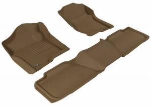 3D MAXpider - U Ace 3D MAXpider CHEVROLET TAHOE 2007-2014 KAGU TAN R1 R2 BENCH SEAT L1CH04901502