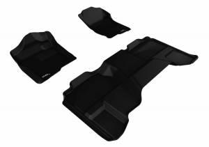 3D MAXpider - U Ace 3D MAXpider CHEVROLET SILVERADO 1500 EXTENDED CAB/ GMC SIERRA 1500 EXTENDED CAB 2007-2013 KAGU BLACK R1 R2 L1CH05001509