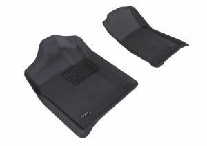 3D MAXpider - U Ace 3D MAXpider CHEVROLET SILVERADO 1500 REGULAR CAB/ GMC SIERRA 1500 REGULAR CAB 2007-2013 KAGU GRAY R1 BUCKET SEATS (2 PCS) L1CH05111501