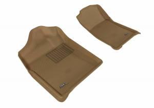 3D MAXpider - U Ace 3D MAXpider CHEVROLET SILVERADO 1500 REGULAR CAB/ GMC SIERRA 1500 REGULAR CAB 2007-2013 KAGU TAN R1 BUCKET SEATS (2 PCS) L1CH05111502