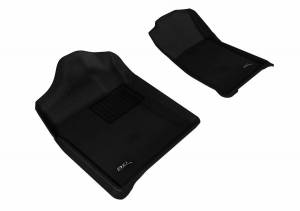 3D MAXpider - U Ace 3D MAXpider CHEVROLET SILVERADO 1500 REGULAR CAB/ GMC SIERRA 1500 REGULAR CAB 2007-2013 KAGU BLACK R1 BUCKET SEATS (2 PCS) L1CH05111509