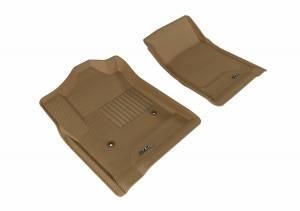 3D MAXpider - U Ace 3D MAXpider CHEVROLET SILVERADO 1500/ 2500HD/ 3500HD REGULAR CAB/ GMC SIERRA 1500/ 2500HD/ 3500HD REGULAR CAB 2014-2018 KAGU TAN R1 (2 PCS) L1CH05611502