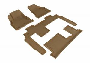 3D MAXpider - U Ace 3D MAXpider CHEVROLET TRAVERSE 2009-2017 KAGU TAN R1 R2 R3 BENCH SEAT L1CH06001502