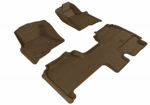 3D MAXpider - U Ace 3D MAXpider FORD F-150 2009-2010 SUPERCAB KAGU TAN R1 R2 (1 EYELET, NOT FIT 4X4 M/T FLOOR SHIFTER, TRIM TO FIT SUBWOOFER) L1FR07101502