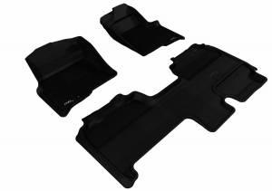 3D MAXpider - U Ace 3D MAXpider FORD F-150 2009-2010 SUPERCAB KAGU BLACK R1 R2 (1 EYELET, NOT FIT 4X4 M/T FLOOR SHIFTER, TRIM TO FIT SUBWOOFER) L1FR07101509
