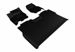 3D MAXpider - U Ace 3D MAXpider FORD F-150 2015-2019 SUPERCREW KAGU BLACK R1 R2 (2 EYELETS, NOT FIT 4X4 M/T FLOOR SHIFTER) L1FR08301509 - Image 1
