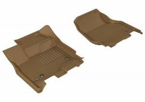 3D MAXpider - U Ace 3D MAXpider FORD F-150 2015-2019 SUPERCREW KAGU TAN R1 (2 EYELETS, NOT FIT 4X4 M/T FLOOR SHIFTERS) L1FR08311502 - Image 1