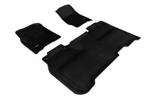 3D MAXpider - U Ace 3D MAXpider GMC SIERRA CREW CAB 1500/ 2500HD/ 3500HD 2015-2018 KAGU BLACK R1 R2 L1GM01001509 - Image 1