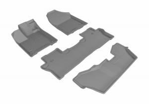 3D MAXpider - U Ace 3D MAXpider HONDA PILOT 8-PASSENGER 2016-2019 KAGU GRAY R1 R2 R3 L1HD07301501