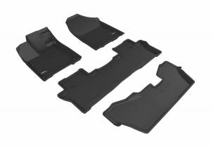 3D MAXpider - U Ace 3D MAXpider HONDA PILOT 8-PASSENGER 2016-2019 KAGU BLACK R1 R2 R3 L1HD07301509