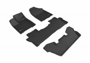 3D MAXpider - U Ace 3D MAXpider HONDA PILOT 7-PASSENGER 2016-2019 KAGU BLACK R1 R2 R3 L1HD08401509