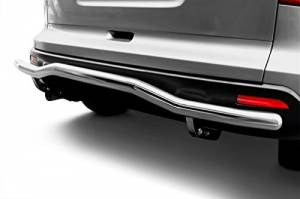 Exterior Accessories - KASEI - KASEI Chrome Single Tube Stainless Steel Rear Bumper Guard 0519SS