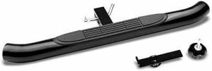 "Exterior Accessories - KASEI - KASEI 3"" ROUND Black  Hitch Steps Fits in Class III 2"" Hitch Receiver 