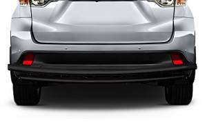 Exterior Accessories - KASEI - KASEI Black Double Layer Steel Rear Bumper Guard DL-HOH202B