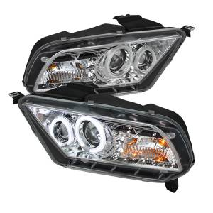 Exterior Lighting - Head Light Set - Spyder Auto - CCFL DRL LED Projector Headlights 5039347