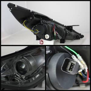 Spyder Auto - Halo DRL LED Projector Headlight 5042484 - Image 2