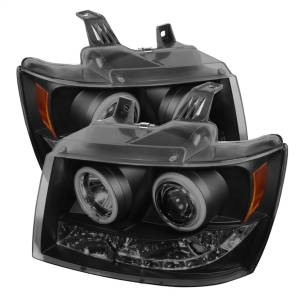 Exterior Lighting - Head Light Set - Spyder Auto - CCFL Halo LED Projector Headlights 5078759