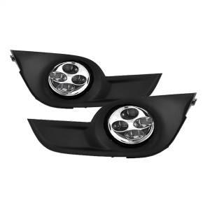 Exterior Lighting - Fog Lights - Spyder Auto - Daytime DRL LED Running Fog Lights 9031649
