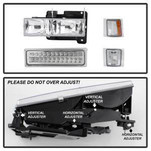 Spyder Auto - XTune Bumper Head Lights/Corner Lights 5069559 - Image 8