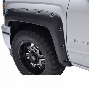 Black Horse Off Road - N | Fender Flares | Black Paintable |  Bolt-head Style - Smooth  | Crew Cab | FF-CHSIL19-SM - Image 2