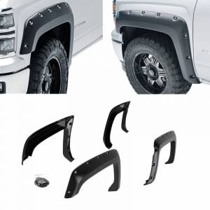 Black Horse Off Road - N | Fender Flares | Black Paintable |  Bolt-head Style - Smooth  | Crew Cab | FF-CHSIL19-SM - Image 4