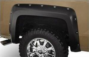 Black Horse Off Road - N | Fender Flares | Black Paintable |  Bolt-head Style - Smooth  | Crew Cab | FF-CHSIL19-SM - Image 7
