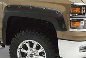 Black Horse Off Road - N | Fender Flares | Black Paintable |  Bolt-head Style - Smooth  | Crew Cab | FF-CHSIL19-SM - Image 8