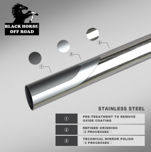 Black Horse Off Road - Black Horse Chrome No skid plate Stainless Steel A Bar BBDGCASS - Image 4