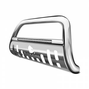 Black Horse Off Road - Black Horse Chrome Skid Plate Stainless Steel Beacon Bull Bar BE-GMTAS