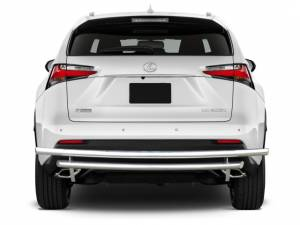 Exterior Accessories - KASEI - Kasei Chrome Double Layer Stainless Steel Rear Bumper Guard